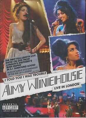 Amy Winehouse DVD I Told You I Was trouble Live In London 2007