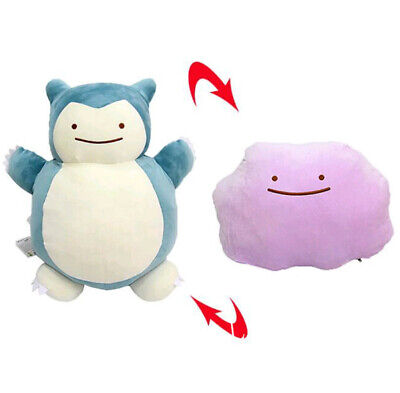 Pokemon Ditto Snorlax Transformation Doux Peluche Oreiller Coussin Jouet Doll