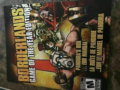 Borderlands Game Of The Year - Playstation 3 - Instruction Manual Only