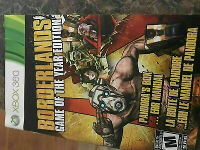 Borderlands Game Of The Year Edition - Xbox 360 - Instruction Manual Only