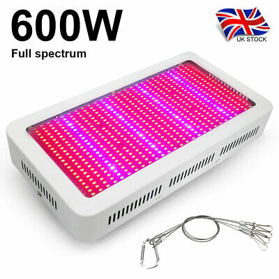 600W LED Grow Light Full Spectrum Veg Bloom Indoor Plant Hydroponic Growing Lamp