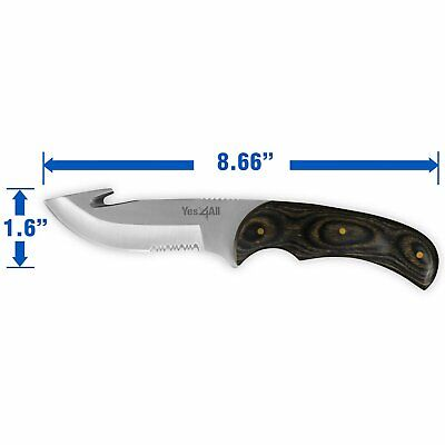 Hunting Fixed Blade Knife / Sheath & Fire Starter – Full Tang