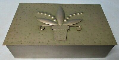 Antique Arts and Crafts Metal Box