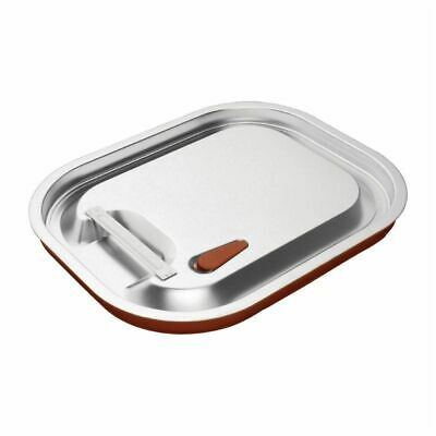 Vogue Stainless Steel and Silicone Sealable 1/2 Gastronorm Lid [CP269]