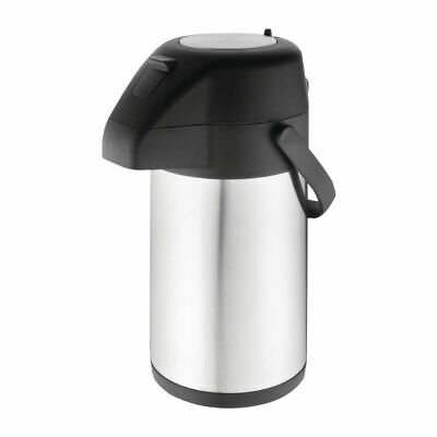 Olympia Stainless Steel Topped Pump Action Airpot 1.9Ltr [CN640]