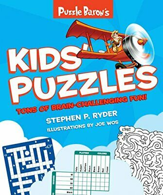 Puzzle Baron's Kids' Puzzles by Baron   Puzzle Book The Cheap Fast Free Post