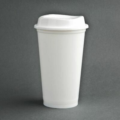 Olympia Polypropylene Coffee Cup and Lids 450ml 16oz (Set of 25) [CW929]