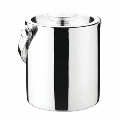 Olympia Double Walled Ice Bucket with Lid 1Ltr [CS076]