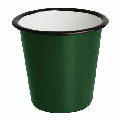 Olympia Enamel Sauce Cup Green And Black (Set of 6) [DC386]