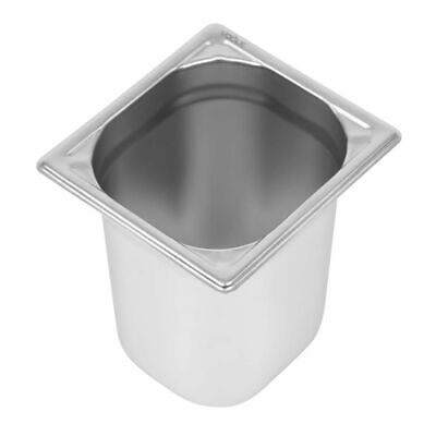 Vogue Heavy Duty Stainless Steel 1/6 Gastronorm Pan 200mm [DW452]