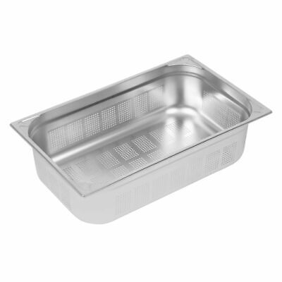 Vogue Heavy Duty Stainless Steel Perforated 1/1 Gastronorm Pan 150mm [DY176]