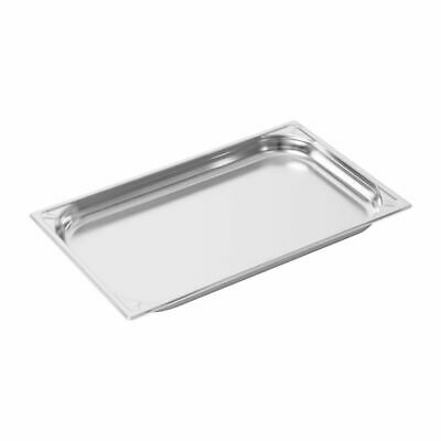 Vogue Heavy Duty Stainless Steel 1/1 Gastronorm Pan 40mm [DW432]