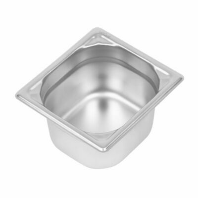 Vogue Heavy Duty Stainless Steel 1/6 Gastronorm Pan 100mm [DW450]
