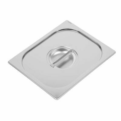Vogue Heavy Duty Stainless Steel 1/2 Gastronorm Pan Lid [DW456]