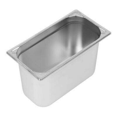 Vogue Heavy Duty Stainless Steel 1/3 Gastronorm Pan 200mm [DW445]