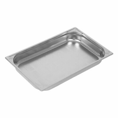 Vogue Heavy Duty Stainless Steel Perforated 1/1 Gastronorm Pan 65mm [DW461]