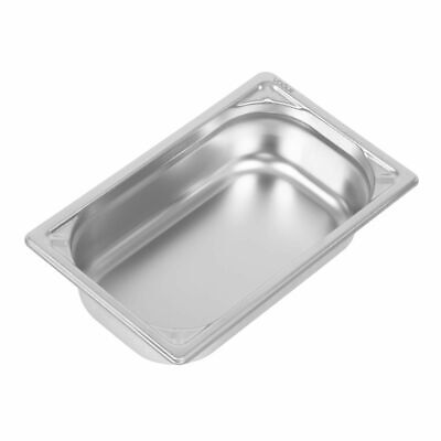 Vogue Heavy Duty Stainless Steel 1/4 Gastronorm Pan 65mm [DW446]