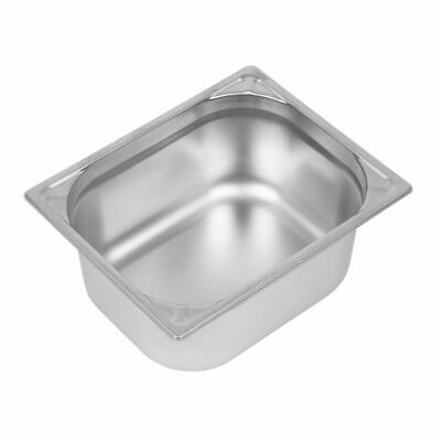 Vogue Heavy Duty Stainless Steel 1/2 Gastronorm Pan 150mm [DW440]