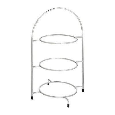 Utopia Chrome Three Tier Cake Stand 240mm [DY297]