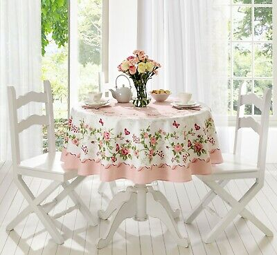 Rose Decorative Printed Round or Rectangle Tablecloth water and stain resistant