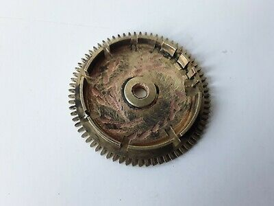 19th CENTURY LONGCASE CLOCK REAR COUNTWHEEL 72 TEETH BRASS