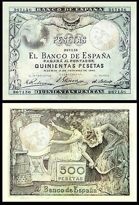 Facsimil Billete 500 pesetas Octubre de 1903 - Reproduction
