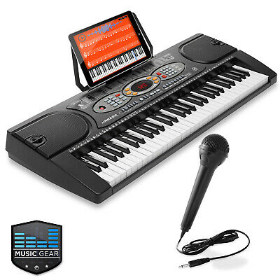 61-Key Electronic Keyboard Portable Digital Music Piano with USB and Microphone