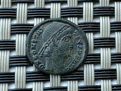 Constantine I The Great 308-337 Ad Ae Follis Roman Legions Ancient Roman Coin
