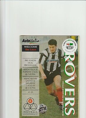 1999/2000 Forest Green Rovers v Aston Villa / Manchester United -pre season frs