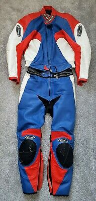 Corner 2 Piece Race Leathers.zip together, armoured. Size 50