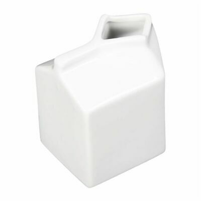 Olympia Whiteware Porcelain Milk Jug Carton 155ml (Set of 6) [SA270]
