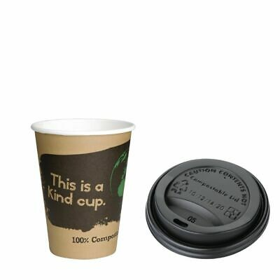 Special Offer Fiesta Green 12oz Compostable Hot Cups and Lids x 1000 (Set of 100