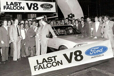 FORD LAST FALCON V8 Banner 1982 XE ESP man cave sign 52cm x 230cm FATHERS DAY