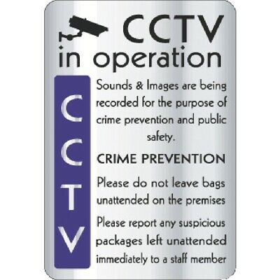 CCTV In Operation Crime Prevention Sign [Y928]