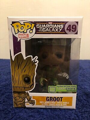 Marvel Guardians Of The Galaxy #49 Groot Funko Pop! Vaulted Loot Crate Glow