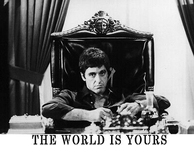 THE WORLD IS YOURS Scarface Pacino Gigantic HD Art Print Poster #696