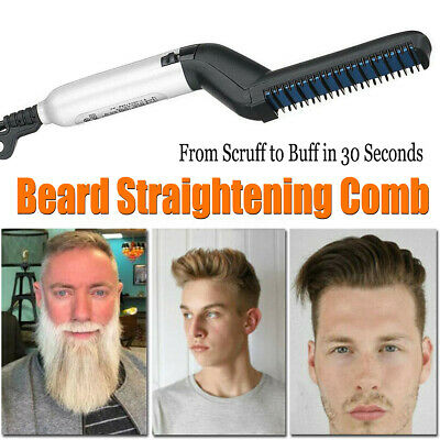 Men Quick Beard Straightener Multifunctional Hair Comb Curling Curler Show Tools