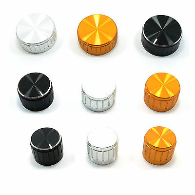 6mm Aluminum Knob for Potentiometer Cap Diameter: 14mm, 20mm, 25mm, 29mm, 39mm