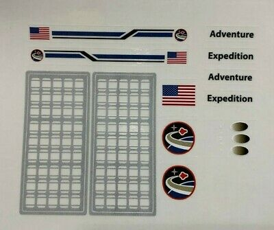 Custom Replacement Stickers for Lego 10213 10231 Space Shuttle Expedition