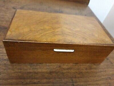 antique art deco walnut veneer BOX