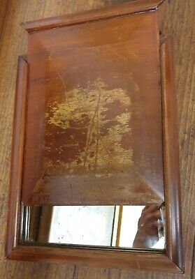 antique mahogany traveling vanity MIRROR
