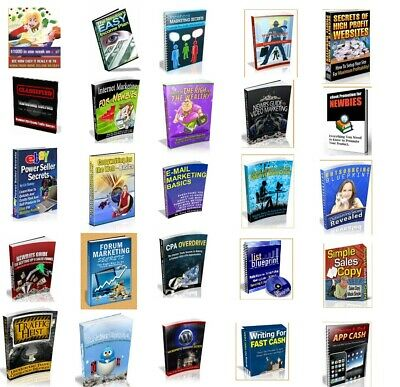 Online Business Secrets/ 25 Valuable Ebooks/ PDF/With Master Re-Sell Rights