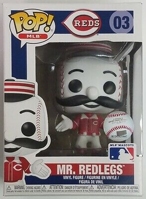 Funko Pop Mr Redlegs Cincinnati Reds #03 MLB Mascots Vinyl Figure