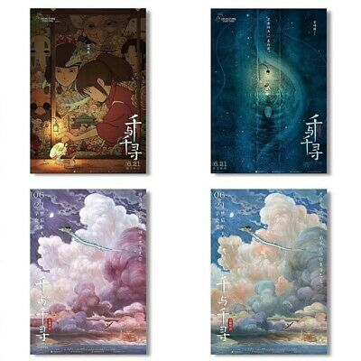 Spirited Away Hayao Miyazaki Chinese Edition Movie Silk Poster 23.6x17.7''