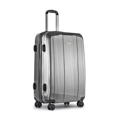 "28"" Luggage Suitcase Trolley Set TSA Lock Travel Carry On Bag Hard Case Grey@HOT"
