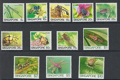 SINGAPORE :1985 Insects definitives set SG491-502 fine used
