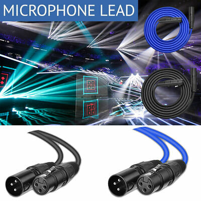 2M-8M Balanced Microphone Cable XLR Patch Lead Male to Female Extension Mic AU