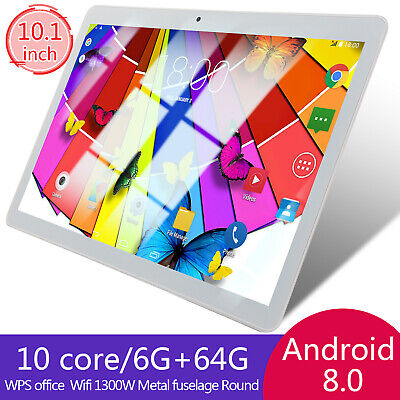 10.1 ZOLL Tablet Android 8.0 6G+64GB Tablet PC+ TF Card Slot Dual Camera GPS IPS