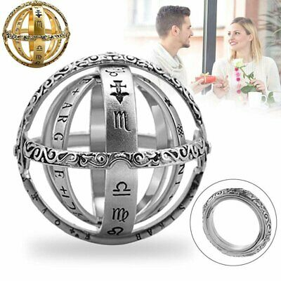 Astronomical Sphere Ball Ring Cosmic Finger Couple Lover Foldable Ring Gifts NEW