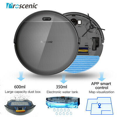 Proscenic 800T WIFI Robotic Vacuum Cleaner PetHair Mopping Map Navigation 2000Pa